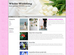 White Wedding WordPress Theme